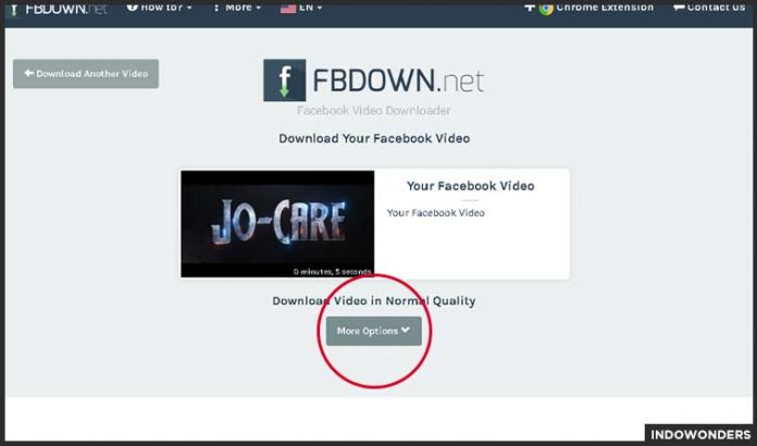 more options fbdown net cara download video di facebook tanpa menggunakan aplikasi download video kualitas hd di fb sendiri di google chrome browser