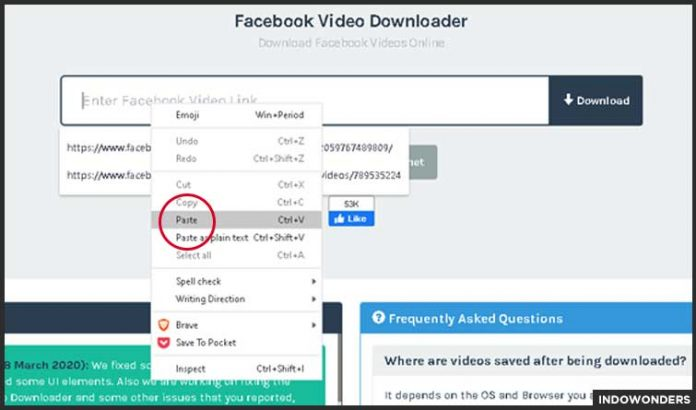 paste link video facebook cara download video di facebook tanpa menggunakan aplikasi download video kualitas hd di fb sendiri di google chrome browser